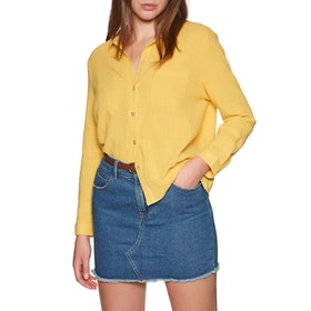 Sisstrevolution Breezy Days Woven Womens Shirt - Gold