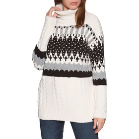 Superdry Gia Intarsia Slouch Knit Womens Sweater - Cream