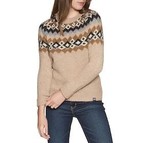 Superdry Savannah Yoke Jacquard Knit Womens Knits - Camel