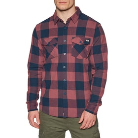 Salty Crew Buffer Flannel Shirt - Rust