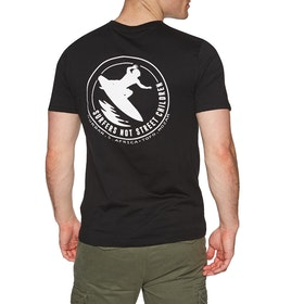 SNSC Surfers Not Street Children Logo Short Sleeve T-Shirt - Black