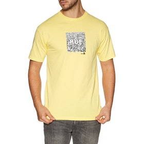 T-Shirt à Manche Courte Huf Woodstock Box Logo - Yellow