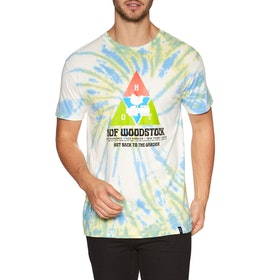 T-Shirt à Manche Courte Huf Woodstock Peaking - Blue