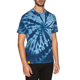 Enjoi Classic Panda Short Sleeve T-Shirt - Navy Pinwheel Tie Dye
