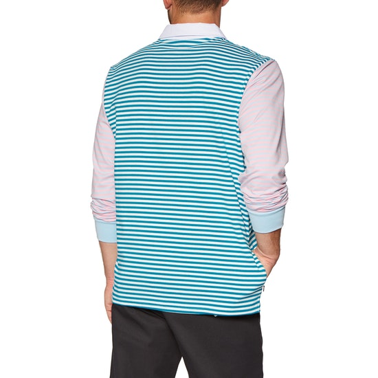 Enjoi Confused Stripe LS Polo Shirt