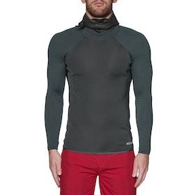Xcel Infinity 1mm Long Sleeve Hooded Thermal Rash Vest - Black