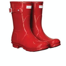 Stivali di Gomma Donna Hunter Original Short Gloss - Military Red