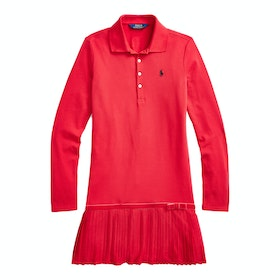 Polo Ralph Lauren Long Sleeved Polo Dress - Ralph 2000 Red