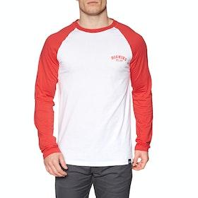 Dickies Baseball Langarm-T-Shirt - Fiery Red