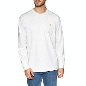 Carhartt Chase Long Sleeve T-Shirt - Ash Heather Gold
