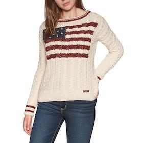 Superdry American Intarsia Womens Sweater - Winter White