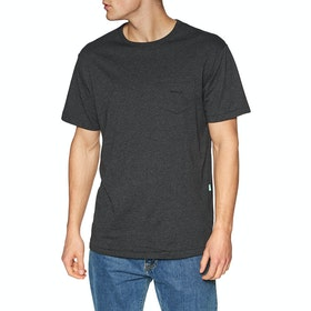 Vissla Vintage Vissla Upcycled Kurzarm-T-Shirt - Black Heather