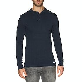Superdry Prospector Grandad Long Sleeve T-Shirt - Rich Navy