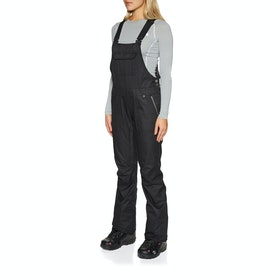 686 Black Magic Insulated Bib Womens Snow Pant - Black Dobby