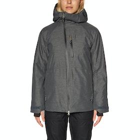 686 GLCR Hydra Insulated Womens Snow Jacket - Charcoal Heather