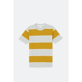 T-Shirt a Manica Lunga Norse Projects Johannes 3 Stripe - Montpellier Yellow