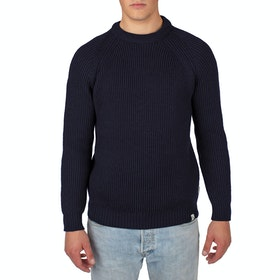 Peregrine Made In England Ford Crew Sweater - Navy