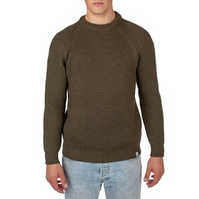 Peregrine Made In England Ford Crew Sweater - Olive