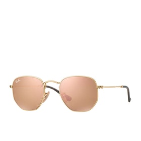 Ray-Ban Hexagonal Sunglasses - Gold~copper Flash
