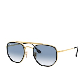 Ray-Ban The Marshal II Sunglasses - Gold~clear Gradient Blue
