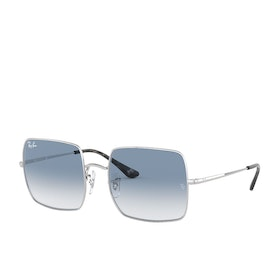 Ray-Ban Square Sunglasses - Silver ~ Photo Azure Gradient Blue