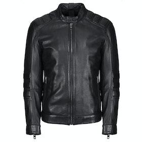 BOSS Jagson Leather Jacket - Black