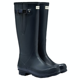 Hunter Norris Field Side Adjustable Ladies Wellies - Navy