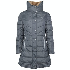 Mark Todd Deluxe Long Padded Ladies Jacket - Grey Silver