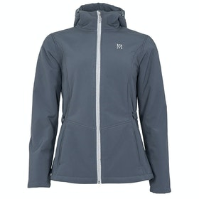 Mark Todd Softshell Fleece Lined Damen Riding Jacket - Grey Silver