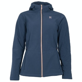 Riding Jacket Femme Mark Todd Softshell Fleece Lined - Navy Rose