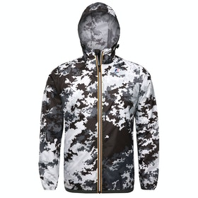 K-Way Le Vrai 3.0 Claude Graphic Waterproof Jacket - 904 - Snow Camo
