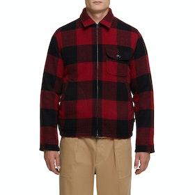 Overshirt Woolrich Zipper Buffalo - Red Buffalo