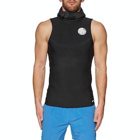 Rip Curl Flashbomb 0.5mm Hooded Sleeveless Thermal Rash Vest - Black