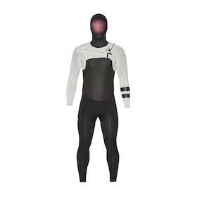 Hurley Advantage Plus 5/3mm Hooded Chest Zip Wetsuit - Light Cream