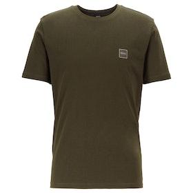 BOSS Tales Herren Kurzarm-T-Shirt - Open Green