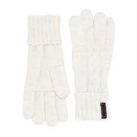 Superdry Lannah Cable Gloves Womens Gloves - Winter Marl