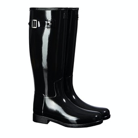 Hunter Original Refined Gloss Ladies Wellington Boots - Monotone Black