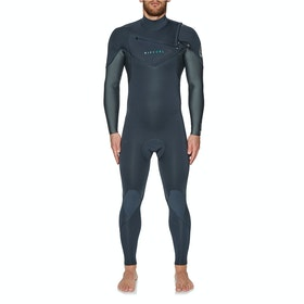 Rip Curl Dawn Patrol Performance 4/3mm Chest Zip Wetsuit - Charcoal Grey
