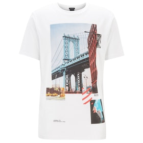 BOSS Toll 3 Men's Short Sleeve T-Shirt - White
