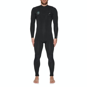 Vissla 7 Seas 3/2mm Chest Zip Neoprenanzug - Black With Jade