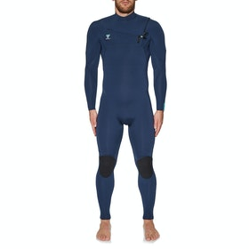 Vissla 7 Seas 3/2mm Chest Zip Neoprenanzug - Strong Blue