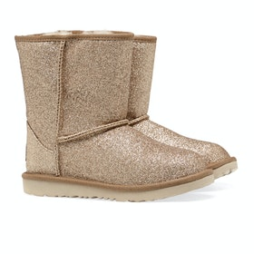 UGG Classic Short II Glitter Kid's Boots - Gold