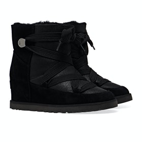 UGG Classic Femme Lace Up Dames Laarzen - Black