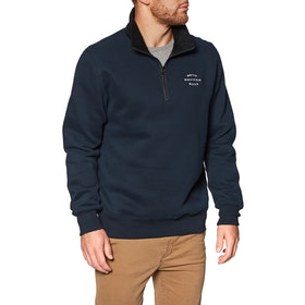 Polares Rhythm James Quarter Zip Pullover - Navy