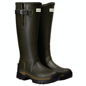 Hunter Balmoral II Side Adjustable 3mm Neo Wellingtons - Dark Olive