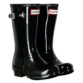 Hunter Original Gloss Childrens Wellington Boots - Black