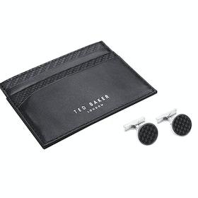 Ted Baker Trabec Gift Set Cardholder And Cufflinks - Black