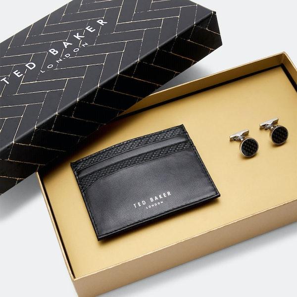 Cufflinks Ted Baker Trabec Gift Set Cardholder And