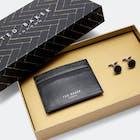 Ted Baker Trabec Gift Set Cardholder And Cufflinks