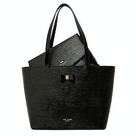 Ted Baker Deannah Bow Detail Einkaufstasche - Black